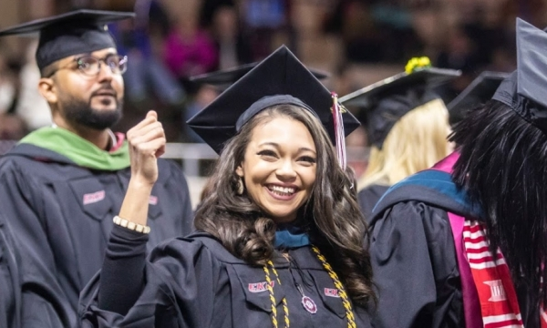 students at college of health sciences commencement, 2018
