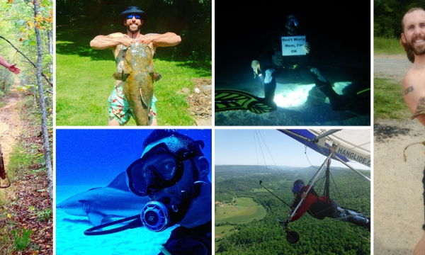 Cody Buell and his adventures noodling, on horseback, gliding and scuba diving