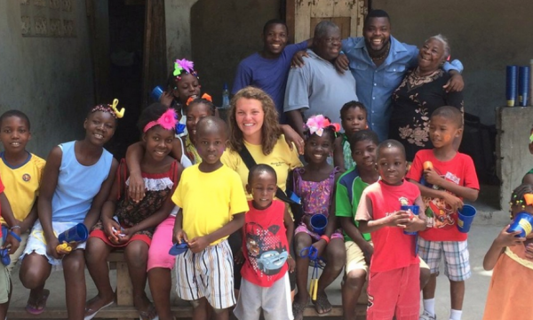 EKU Environmental Health Science Major Candi Graves in Haiti