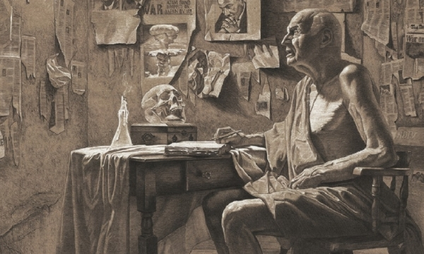 Samuel Called by Matthew Warfield Cincotta, pencil and white charcoal on board.