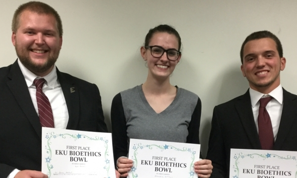 EKU Bioethics Bowl Winners