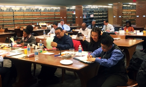 Photo from training at Bronx Comm. College