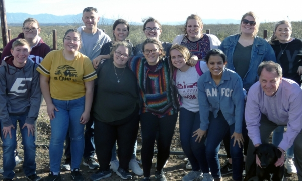 Honors students in Sidewalk U program traveled to the U.S.-Mexico border.