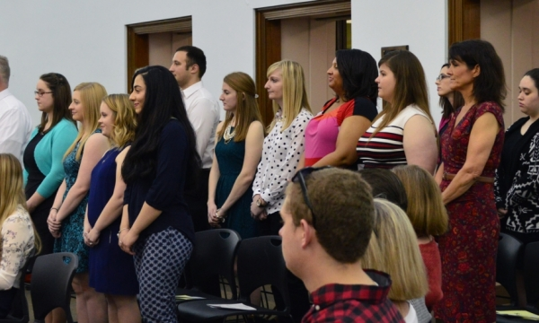 Phi Kappa Phi ceremony photo