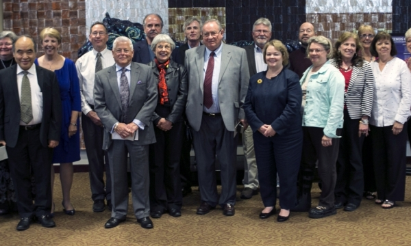 group photo of retirees
