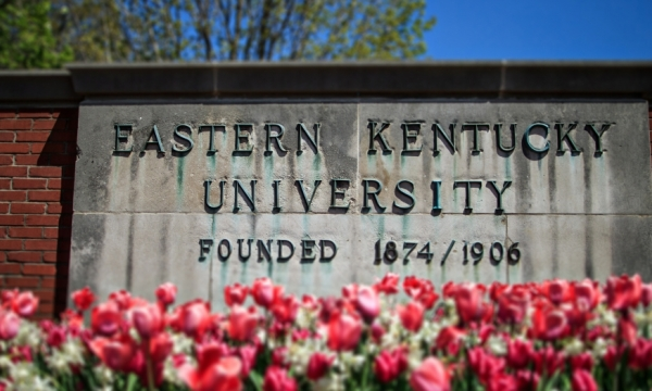 EKU sign in spring