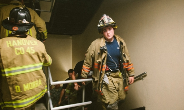 stair climb file photo