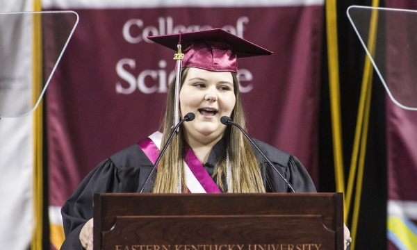 Jessica Dobbs at EKU graduation