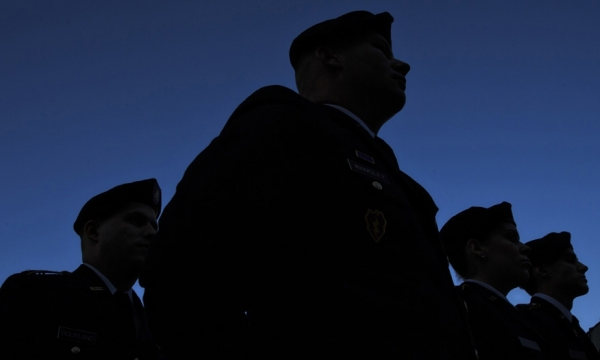 Veterans silhouette photo