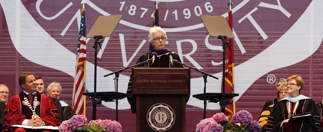 Lt. Gov Crit LuAllen at EKU Spring 2015 Commencement