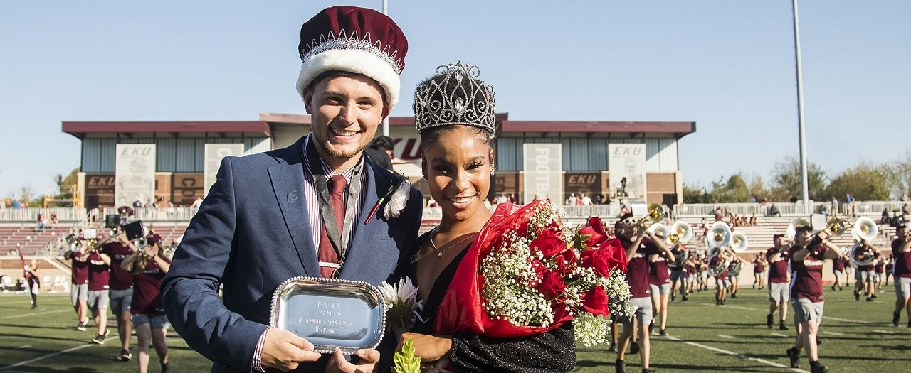 EKU 2019 Homecoming King Kyle Best and Queen Phaneece Macklin