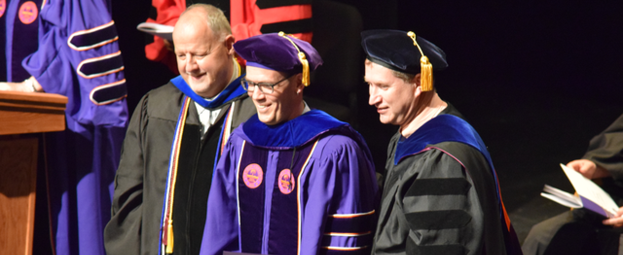 Brian Joyce receiving his doctoral degree from Clemson University