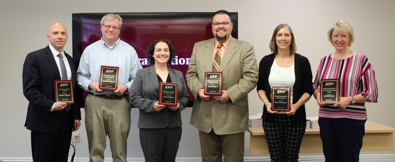 Faculty Award winners were announced.