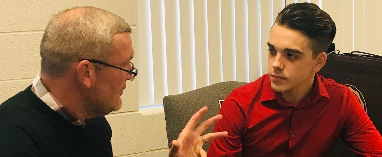 South Region Manchester EKU Campus Director Terry Gray, consults with 'Believe i