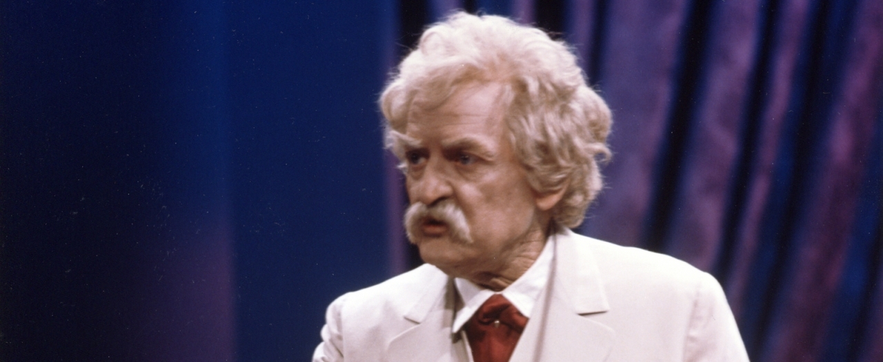 Holbrook as Twain photo