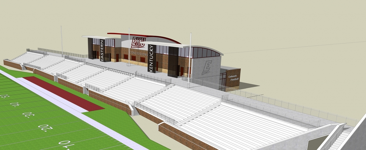 Roy Kidd Stadium Expansion rendering