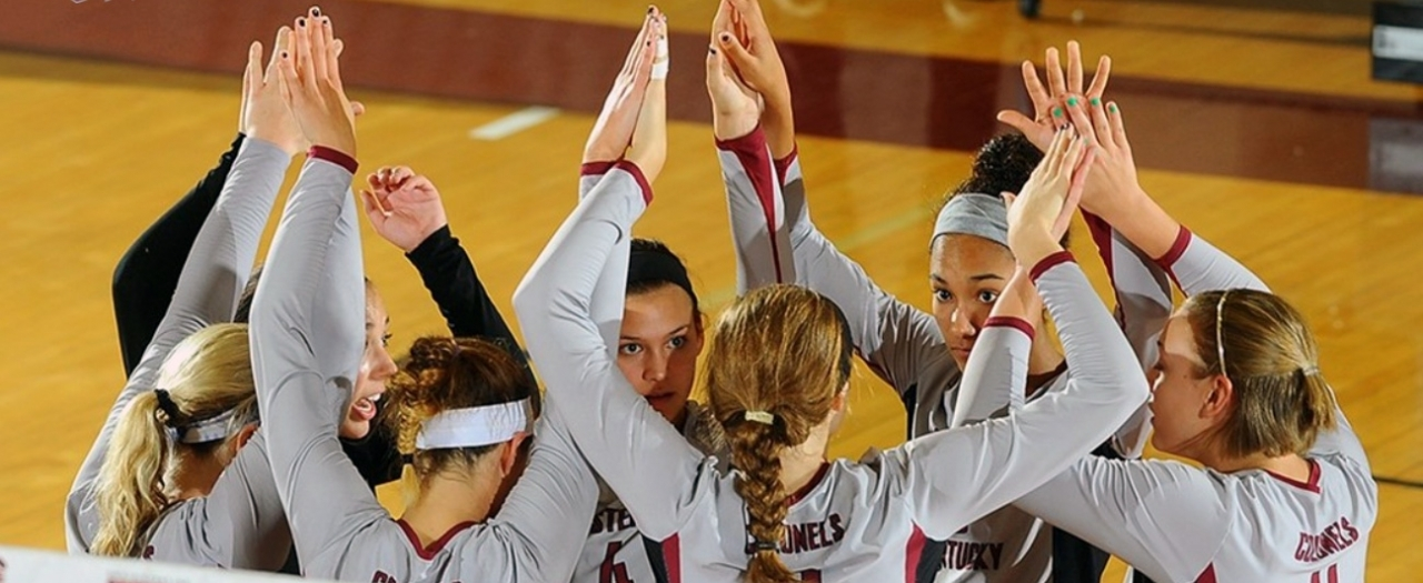 file photo of volleyball huddle