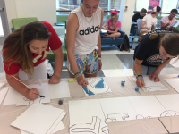 students creating