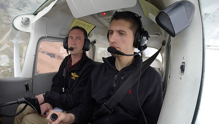 EKU Aviation Student Dustin Ratliff behind the scenes